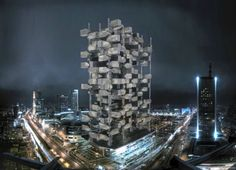 Apocalyptic Chlorophyll Tower Absorbs NYC CO2 Like Leaves | Inhabitat New York City