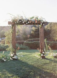 Gorgeous outdoor California wedding ceremony: http://www.stylemepretty.com/california-weddings/fallbrook/2017/02/17/peach-spring-outdoor-wedding/ Photography: Sara Weir - https://www.saraweirphoto.com/