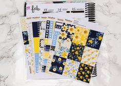 Narcissus Planner Sticker Kit for Erin Condren / Happy Planner / spring / floral sticker kit / weekly kit / weekly planner kit