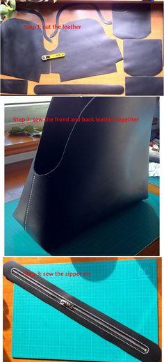 tutorial for handbag Not for sell!! leather tutorials hand made tutorials hand stitched tutorial wallet patterns  Diese und weitere Taschen auf www.designertaschen-shops.de entdecken