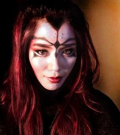 Star Wars-inspired makeup. Half-Sith.