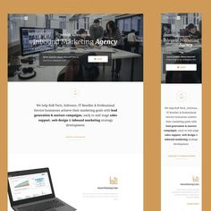 A growing digital marketing agency requires a complete home page style change. by The Workshop