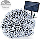 Outdoor Solar Powered String Lights Solarmks 220 Led String Lights 77ft Ultra-long 8 Mode Cool White Christmas... christmas deals week