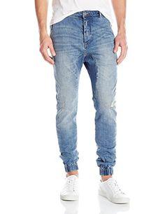 Zanerobe Men's Slingshot Denimo Elastic Cuff Jogger Jeans...