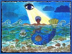 MY YEMAYA POEM& * Yemaya, Blessed Mother of the Seas, Let Your Sacred Waters wash over me. Mother, embrace me, Your humble child. Oshun Y Yemaya, African Mythology, African Goddess, Tarot, New Orleans Voodoo, Mermaid Stories, Mermaid Images, Hawaiian Art, Spiritism