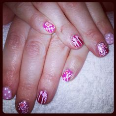 Pink cath kidson inspired nails x