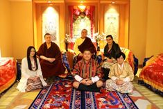 Top (left to right): HH Karmapa and his parents HE Mipham Rinpoche, Dechen Wangmo Bottom (left to right): Rinchen Yangzom and her parents Mr Chencho, Mrs Kunzang - The marriage took place on 25th March 2017, in the presence of close family members.