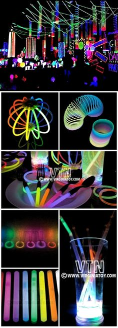 Glow-in-the-Dark Spooktacular Halloween Party Decorations & Ideas Glorious Glow Party! Glow-in-the-Dark Spooktacular Halloween Party Decorations & Ideas Neon Birthday, 13th Birthday Parties, 16th Birthday, Birthday Ideas, Glow In Dark Party, Black Light Party Ideas, Neon Licht, Blacklight Party, Quinceanera Party