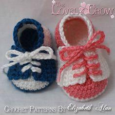 Zapatos de bebé Crochet patrón para poco SILLINES por TheLovelyCrow
