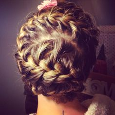 S shaped French braid with fishtail finish