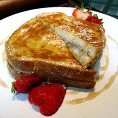 French toast with fried banana