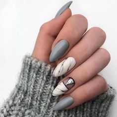 70 Fashionable Acrylic Almond Nail Designs For Girls To Try - Page 48 of 70 - Chic Hostess - Care - Skin care , beauty ideas and skin care tips Almond Nails Designs, New Nail Designs, Spring Nails, Summer Nails, Source D'inspiration, Marble Acrylic Nails, Pinterest Inspiration, Glam Look, Instagram Nails