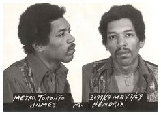 Jimi was arrested at Toronto International Airport airport in May 1969 after customs inspectors found heroin and hashish in his luggage.