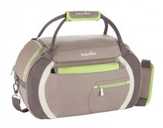 Babymoov Sport Style - Diaper Bag with Changing Pad, Shoulder Strap and Baby Travel Necessities (Almond/Green), Gray