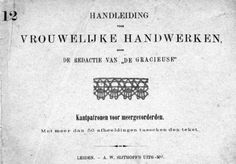 Handleiding voor Vrouwelijke Handwerken # 12 (Instructions for Women's Handwork), A. W. Sijthoff, Leiden.  Dutch book with pricking patterns