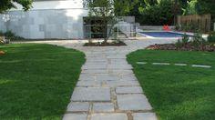 Gyepfugás kerti út terméskőből/natural stone path Stone Path, Natural Stones, Paths, Sidewalk, Nature, Naturaleza, Side Walkway, Walkway, Nature Illustration