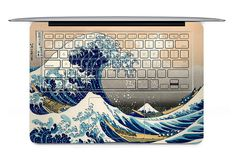 Hey, I found this really awesome Etsy listing at http://www.etsy.com/listing/114565298/tempestuous-waves-laptop-keyboard-decal (if i had a mac book)