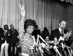 On January 25, 1972, Shirley Chisholm became the first major-party black candidate for President of the United States and the first woman to run for the Democratic presidential nomination.