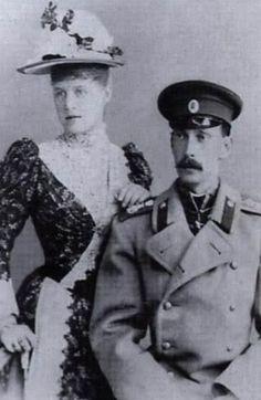 Grand Duke Paul Alexandrovitch and his first wife Alexandra Georgievna.