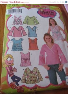 SALE UnCut Simplicity Sewing Pattern 4568 Girls by EarthToMarrs, $3.60
