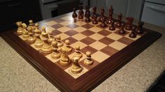 The Harbeson, Chess Pieces in Golden Rosewood - Boxwood - 3.75''