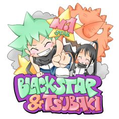 black star and tsubaki from soul eater