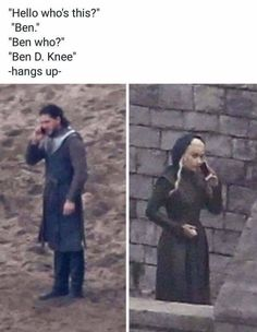 Jon and Dany, Game of Thrones.