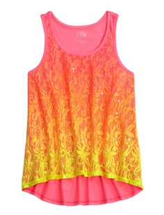Lace Dip Dye High-Low Tank | Tops | New Arrivals | Shop Justice