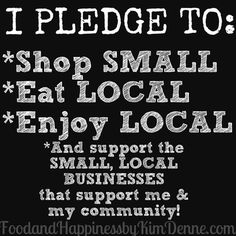 Support Small, Local Business!  *Direct Sellers, open Pin for tips on Supporting Business & Promoting yours within your community*