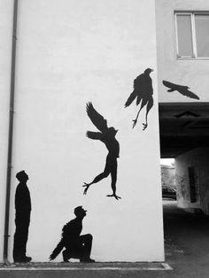 Birdman street art. Wall mural. http://prolabdigital.com/products-services/fine-art-digital-prints/wall-murals-wallpapers.html