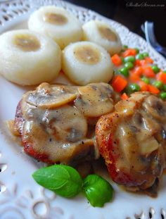 Polish Recipes, Food Design, Bon Appetit, Baked Potato, Menu, Food And Drink, Chicken, Salsa, Dinner