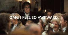 so awkward Mr Darcy