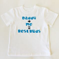 Father's Day is coming up! Daddy and me tee shirt