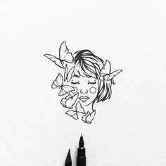 Tattoo design for Alice, grazie! I'm available for tattoo design and custom illustrations, send me a DM :) . Line Drawing, Drawing Sketches, Painting & Drawing, Art Drawings, Art And Illustration, Black And White Illustration, Black And White Sketches, Buch Design, Design Art
