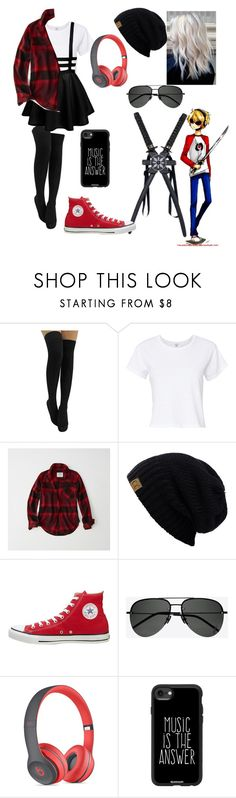 """Dave Strider (Homestuck)"" by jefferson-madhatter ❤ liked on Polyvore featuring RE/DONE, Abercrombie & Fitch, Converse, Yves Saint Laurent, Beats by Dr. Dre and Casetify"