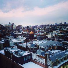 Snowy rooftops of #Soho