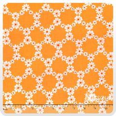 Happy Tones - Jemma Orange Yardage - Michael Miller Fabrics - Michael Miller