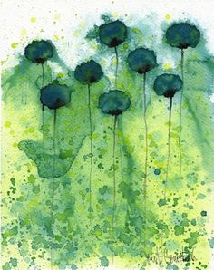 Mo Money  Teal Flowers  Giclee Print 8x10 by printmakerjenn, $20.00