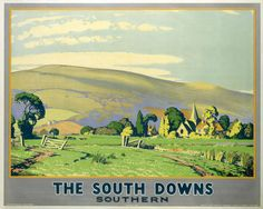 Hahnemuhle PHOTO RAG Fine Art Paper (other products available) - & South Downs& S. Poster, 1946 - Image supplied by National Railway Museum - Fine Art Print on Paper made in the UK Fine Art Prints, Canvas Prints, Framed Prints, Railway Posters, Train Posters, National Railway Museum, Southern Railways, Vintage Travel Posters, Poster Size Prints