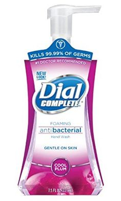 Dial 02935 Complete Antibacterial Foaming Hand Soap, Cool Plum, 7.5 oz. Pump Bottle (Case of 8) Review