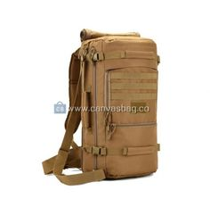 2794403a014f Retro leather-trimmed canvas hunter backpacks from Vintage rugged ...