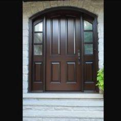 Side Light Entry Doors | Amberwood Doors Inc. Modern Wooden Doors, Wooden Main Door Design, Front Door Entryway, Entry Doors, Double Doors Exterior, House Doors, Back Doors, Building A House, New Homes