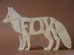 4. Fox Wooden Animal Puzzle Toy  Hand Cut  with Scroll Saw. $12.00, via Etsy. #findlittlefox #mothersday