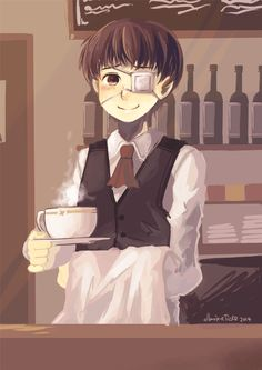 """Please take your time!""   Barista Kaneki"