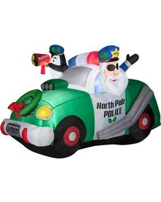 generic 4' North Pole Police Airblown Inflatable Christmas Prop from Walmart | BHG.com Shop