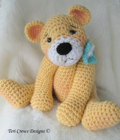 Teddy Bear Crochet Pattern for sale -- love this one!!!