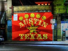Mural on Street (Austin) [Lance Vaughn] Lone Star State, Popular Photography, Live Music, Hdr, Beautiful Homes, Wall Art, Austin Texas, Street, House Of Beauty
