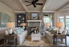 Living Room   2014 Southern Living CBSH   The Retreat at Cliffs Falls South   Dillard-Jones Builders   In Town   Lake   Mountains