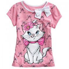 Disney the Aristocats Marie Tshirt Girls 4 6x T Shirt   Shirts, Tops and Clothing