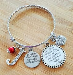 Teacher Appreciation Gift Teacher Gifts Teacher Bracelet